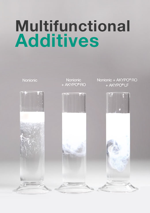Additive brands AKYPO, AKYPO ROX, KAO FINDET, AMIDET and FOSFODET, provides key surfactant technology for modern Metal Working Fluid