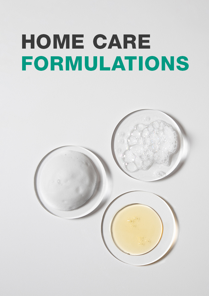 Low and High Foaming solutions for Home Care